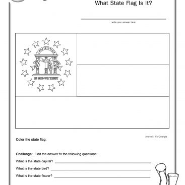 Coloring Page State Flag Connecticut Printable Worksheet - Surviving ...