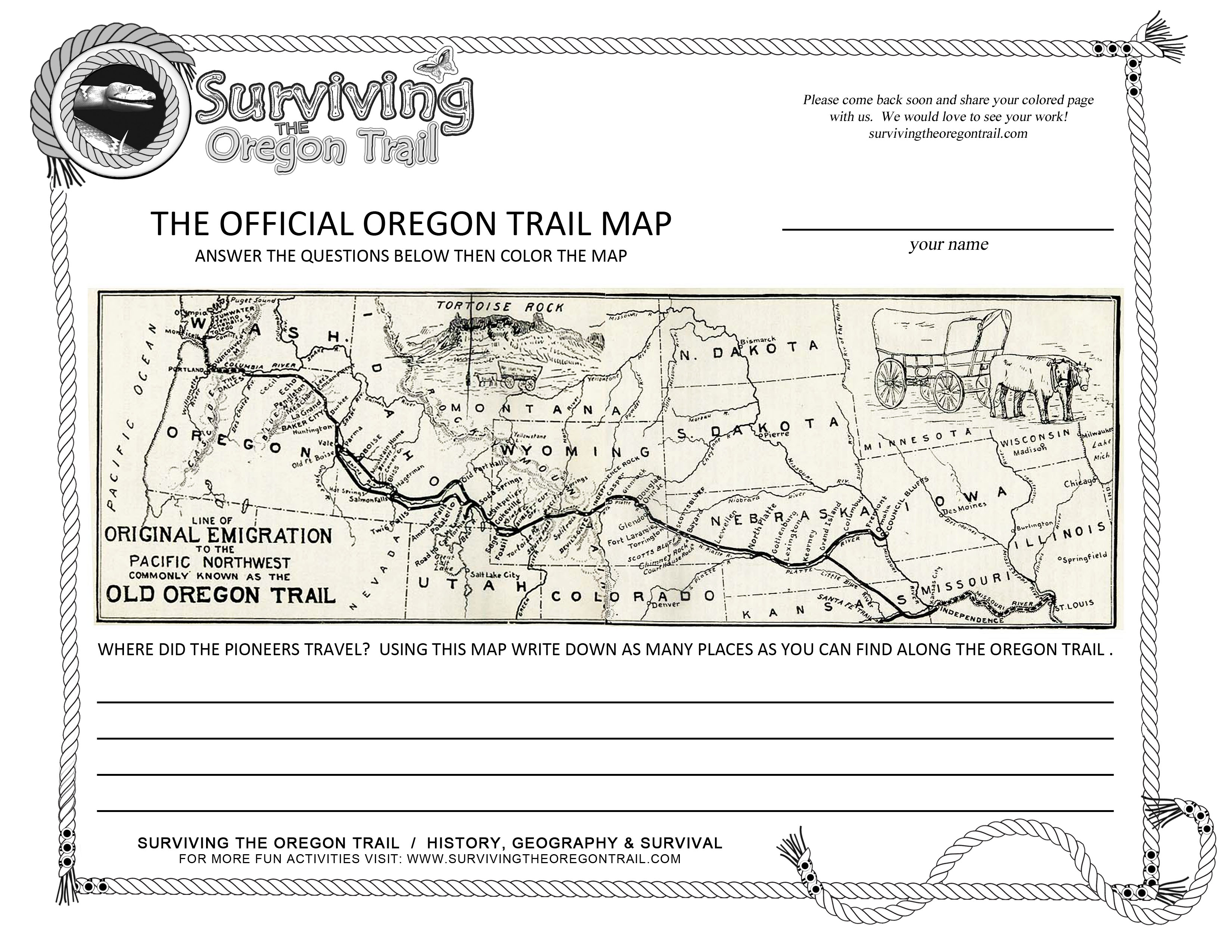 were excited to share with you all our newest printable map using the actual the official the original oregon trail map its the same map the pioneers